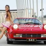 red-car-model-girl-pretty