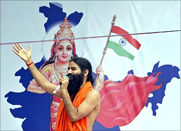 Baba ramdev againt corrutpion