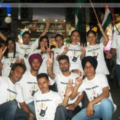 Anna Hazare's Victory Celebration at Sec- 17 chandigarh by TheBack-Benchers.com