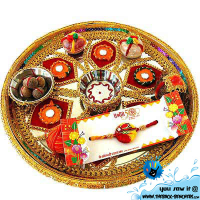Raksha Bandhan plate decoration