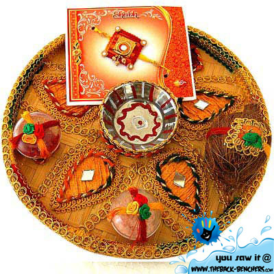 Raksha Bandhan rakhi Thali decoration