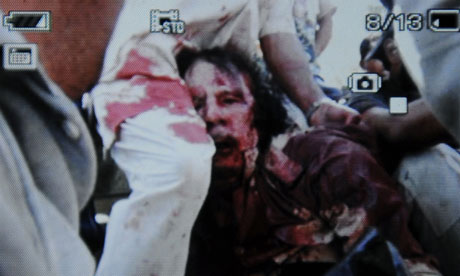 Gaddafi death photo