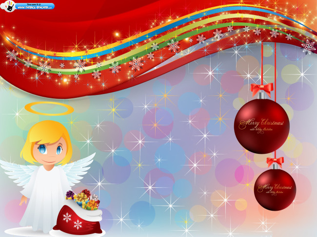 Xmas Blessing Sparkles wallpaper