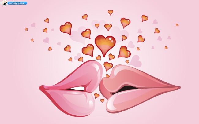 Happy Kiss day wallpaper 2012