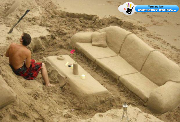 Sofa sand set  near sea