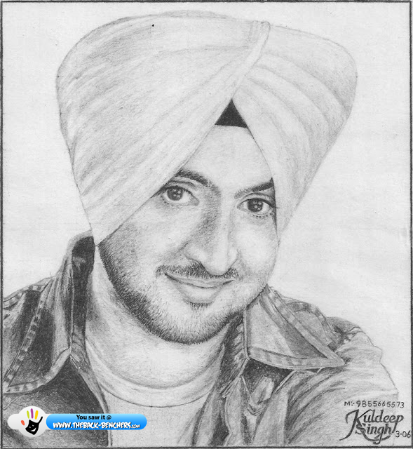 diljit dosanjh wallpapers sketch