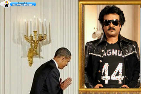 Obama with Rajnikanth