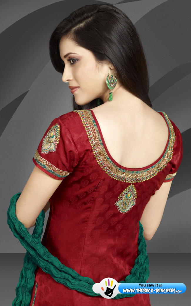 punjabi suits back neck designs