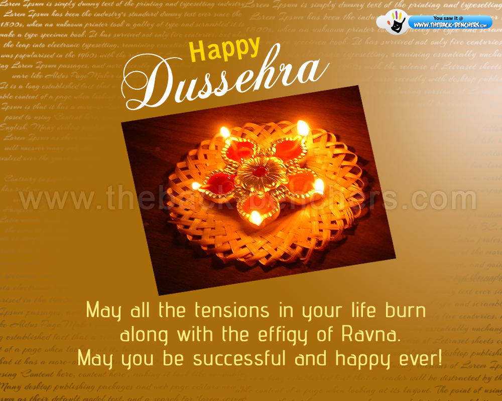 Happy dussehra 2012 wishes and wallpaperstheback benchers dussehra wishes download m4hsunfo