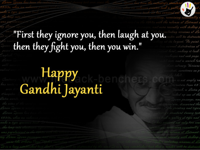 happy gandhi jayanti quotes
