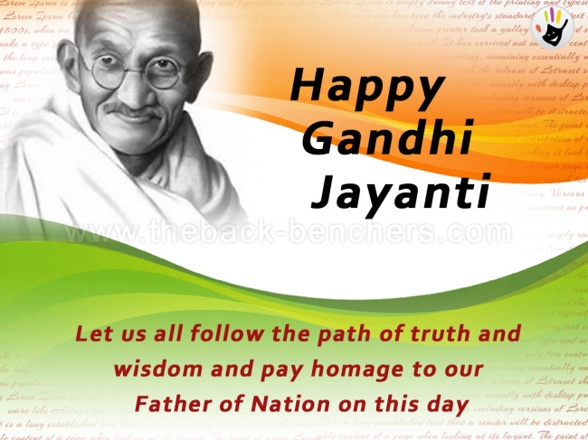 happy gandhi jayanti wallpapers