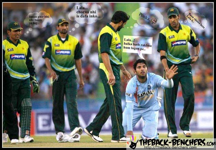 funny pic india vs pakistan cricket semi final - Jokes Competition June 2011