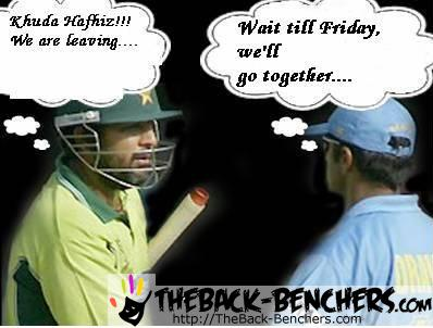 Funny picture of India vs Pakistan Cricket match