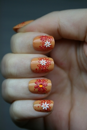 Girls Beautiful Nail Paints Pictures