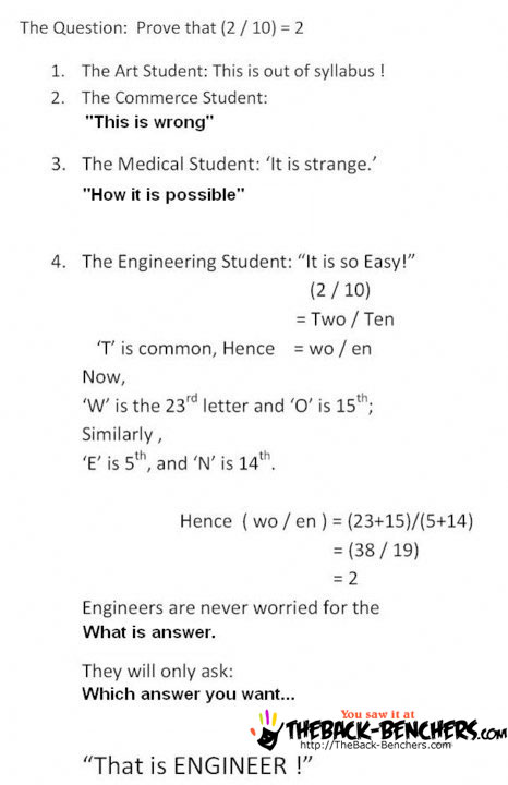 enginnering studend funny calulation