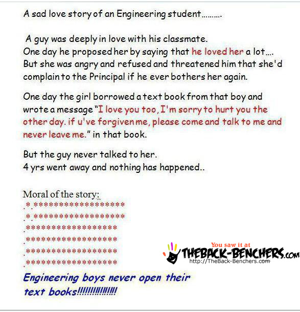 sad story of enginnering student funny